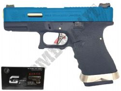 WE Force EU19 Glock G19 Replica Airsoft Pistol Gas Blowback BB Gun Black 2 Tone & Gold Barrel